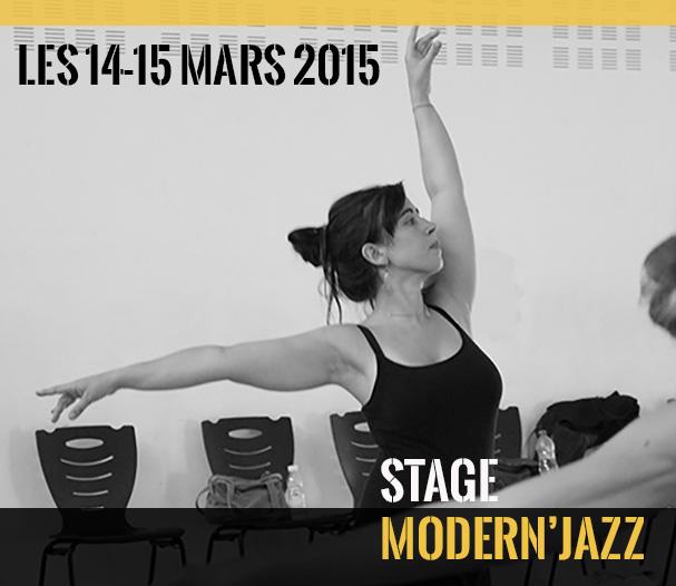 Stage de danse Modern'Jazz Mars 2015